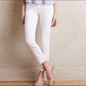AG Adriano Goldschmied Stevie Ankle White Jeans